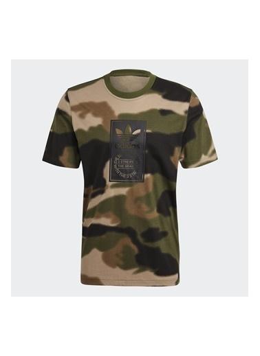 adidas Adidas Erkek Günlük T-Shirt Camo Aop Tongue Gn1863 Siyah